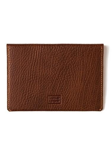 Leather & Paper Deri Pasaport Kılıfı & Kartlık Kahve
